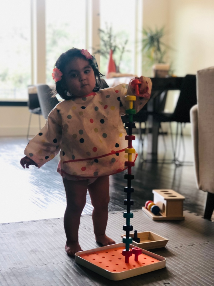 Peg stacking at 18 months